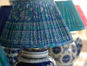 Silk saree lamp shade