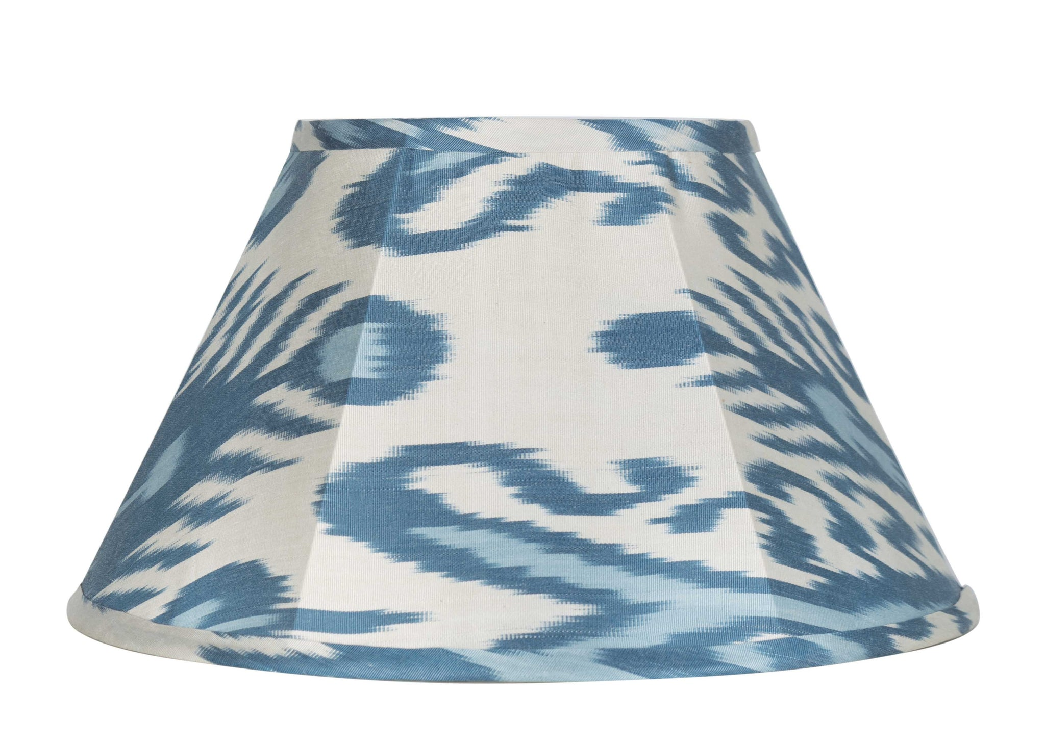 Aegean and Sky Blue Silk Ikat Artisan Lamp Shade