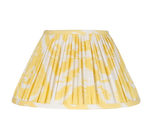 Dandelion Yellow Silk Ikat Gathered Artisan Lamp Shade