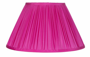 Magenta Pink Silk Dupion Gathered Artisan Lamp Shade