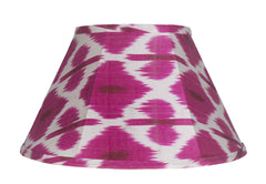 Hand-Made Artisan Lampshade in Silk Ikat Fabric