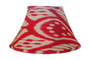 Cherry Silk Ikat Lamp Shade
