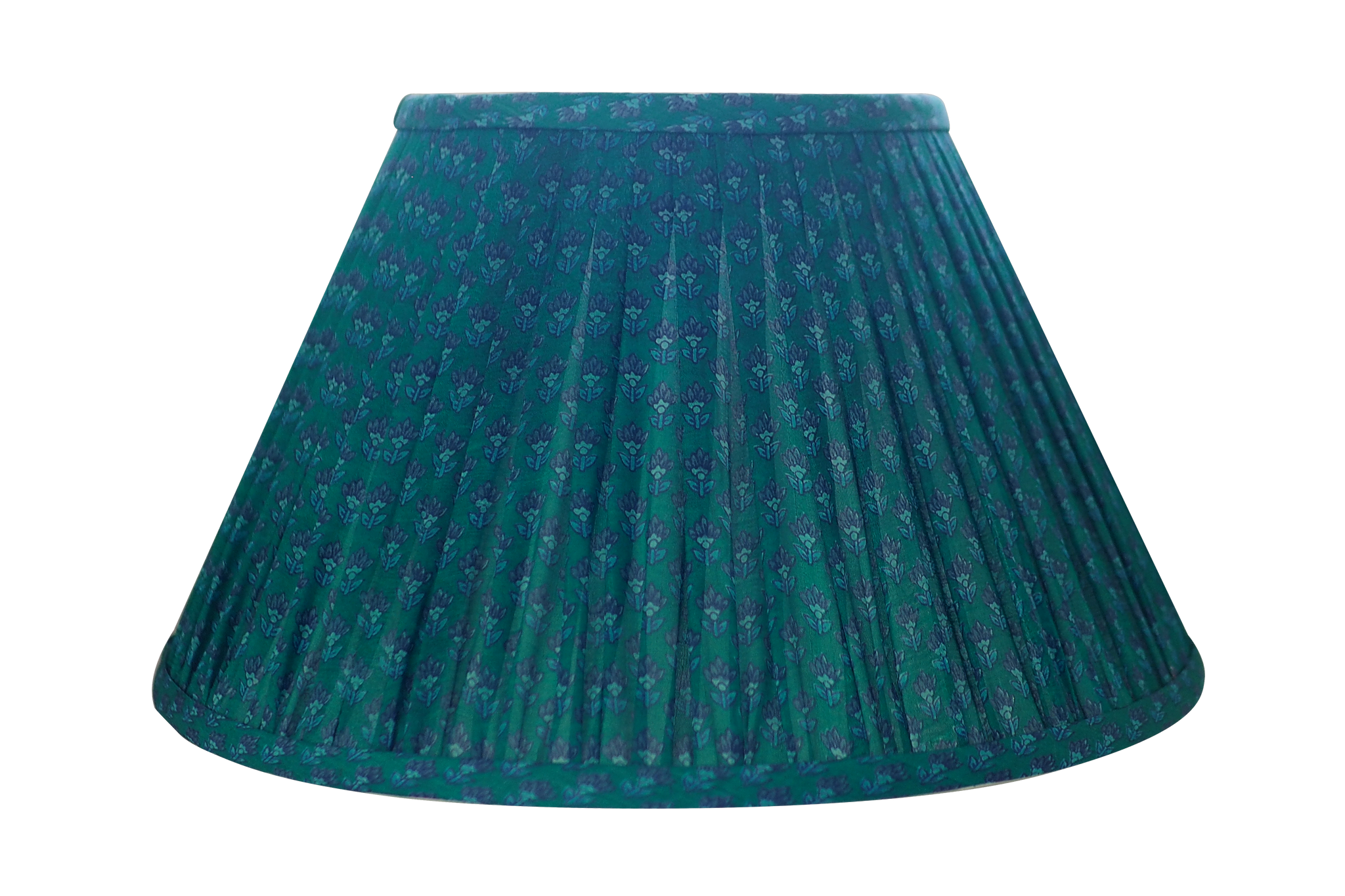 Emerald green silk sari lamp shade