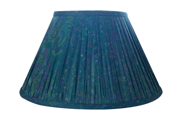 blue green silk sari shade