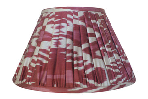 Garnet Silk Ikat Gathered Lamp Shade