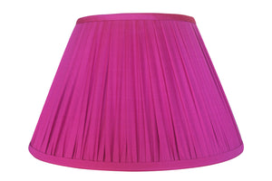 Hot Pink Thai Silk Gathered Lamp Shade