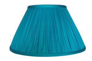 Peacock Thai Silk Gathered Lamp Shade