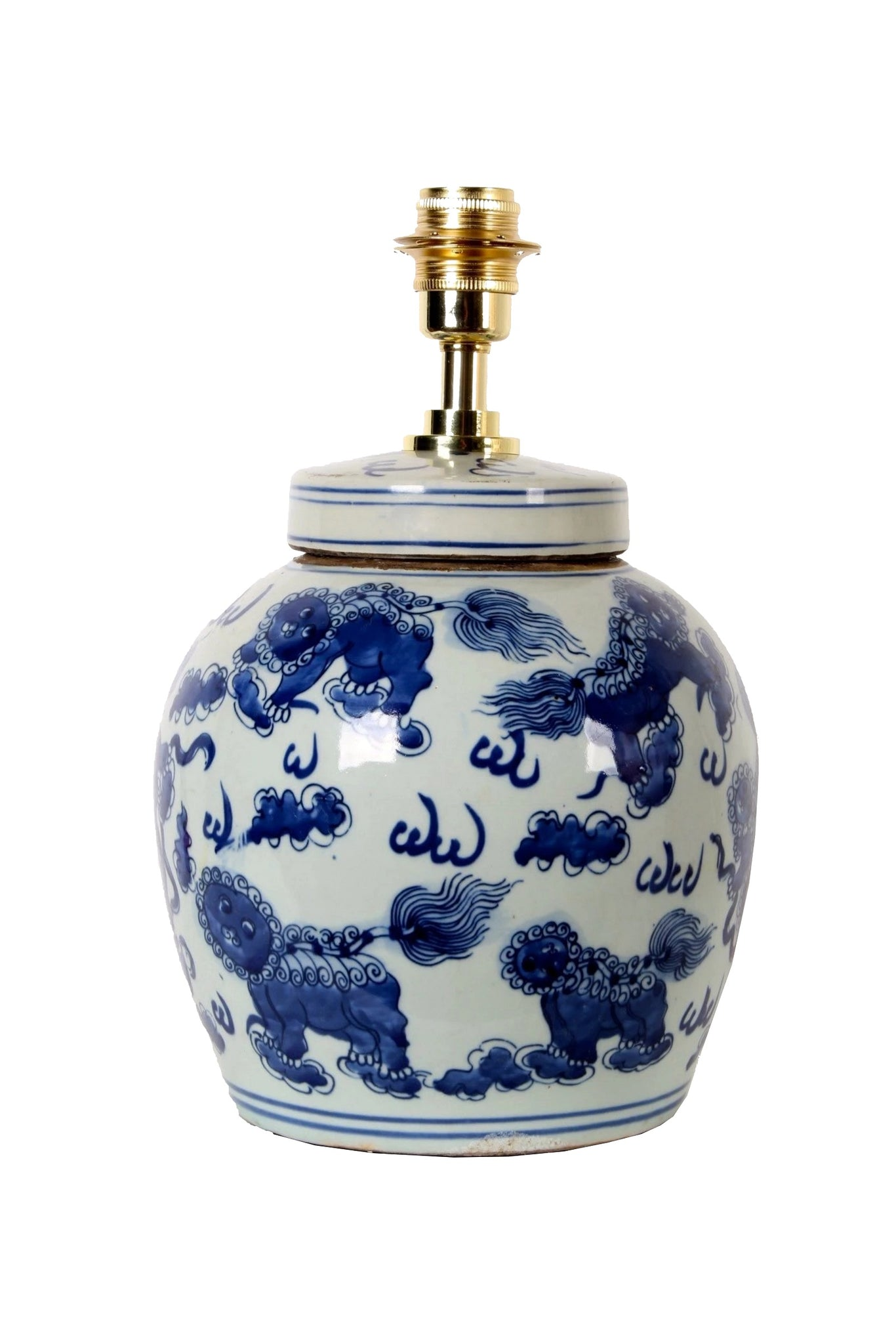 Lions Ginger Jar Table Lamp Base