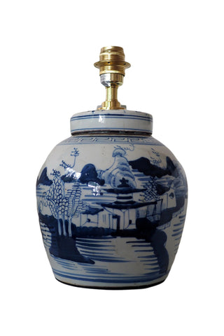 Mountain Village Ginger Jar Table Lamp Base