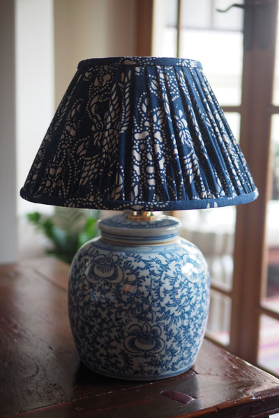 chinese vintage indigo lamp shade
