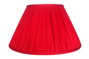 Ruby Thai Silk Gathered Lamp Shade