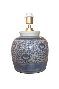 Vine & Lotus Ginger Jar Table Lamp Base