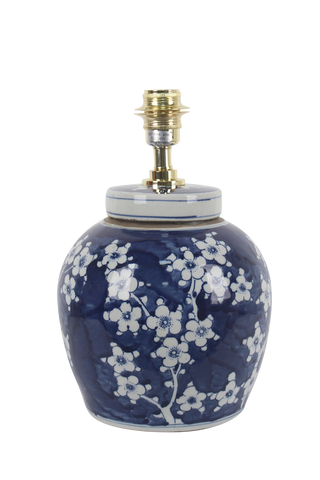 Plum blossom ginger jar lamp base