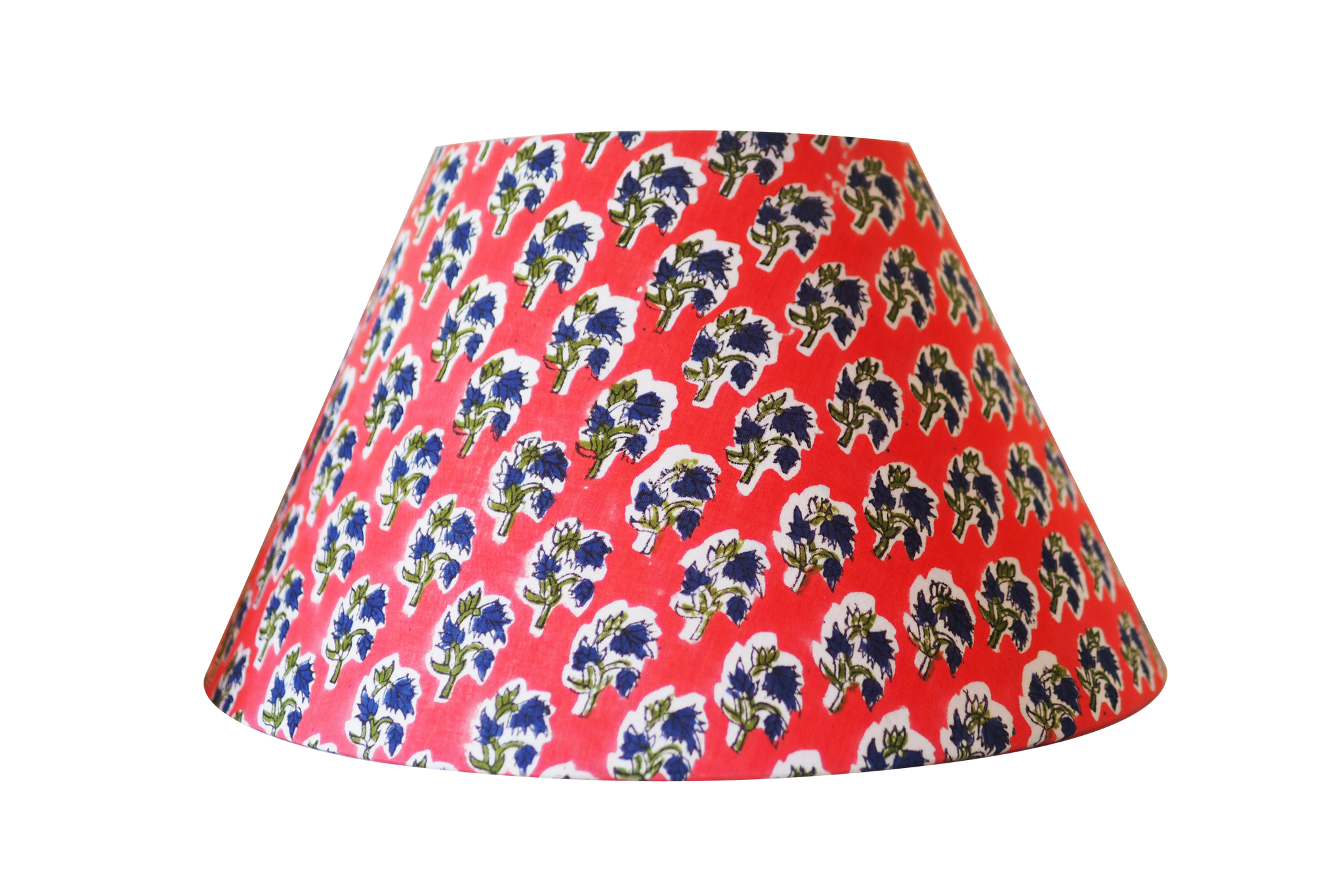 pink woodblock cotton lampshade