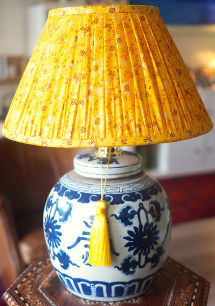 Nashik silk sari lamp shade with Shou base
