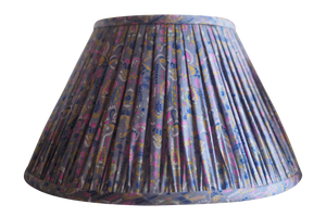 Jalna vintage silk sari gathered lamp shade
