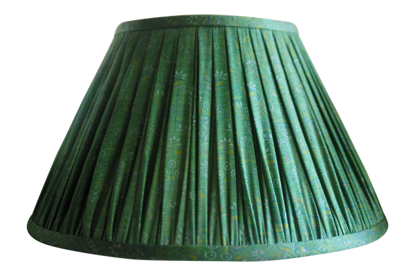 jhansi vintage silk sari gathered lamp shade