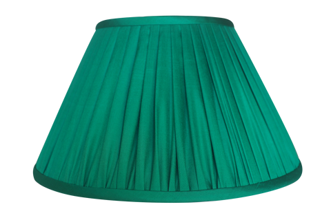 Kelly Green Thai Silk Gathered Lamp Shade