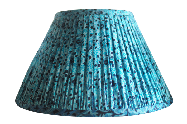 Kulti vintage silk sari gathered lamp shade