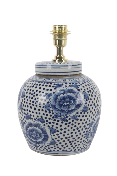 peony polkadot light ginger jar lamp base