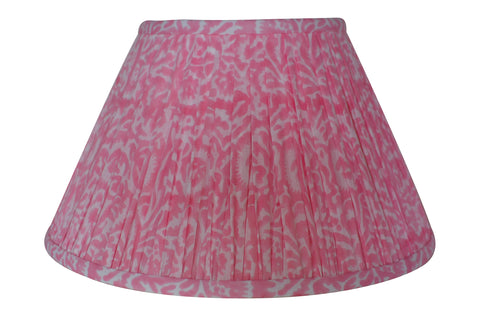 Orchid Block-Print Cotton Gathered Lamp Shade