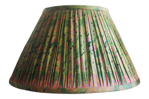 Thane vintage silk sari gathered lamp shade