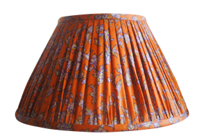 Varanasi vintage silk sari gathered lamp shade