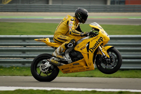 super bike kick start yellow