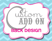 Matching Back Design - Customizable - Printable