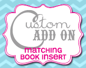 Matching Baby Shower Book Request Insert - Customizable - Printable