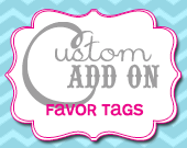 Matching Favor or Thank You Tags - Customizable - Printable