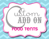 Matching Food / Menu Tents - Customizable - Printable