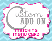 Matching Menu Card - Customizable - Printable