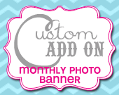 Matching Monthly Photo Banner - Customizable - Printable