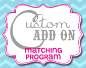 Matching Program Card - Customizable - Printable
