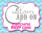 Matching RSVP Card - Customizable - Printable