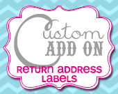 Matching Return Address Labels - Customizable - Printable