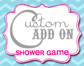 Matching Shower Game Card - Customizable - Printable
