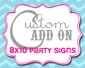 Matching Party Sign - Customizable - Printable