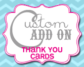 Matching Thank You Card - Customizable - Printable
