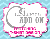 Matching T-Shirt Design - Customizable - Printable