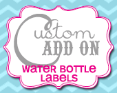 Matching Water Bottle Labels - Customizable - Printable