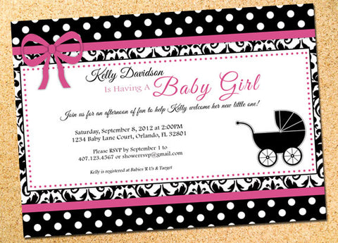 Damask Polka Dots Invitation
