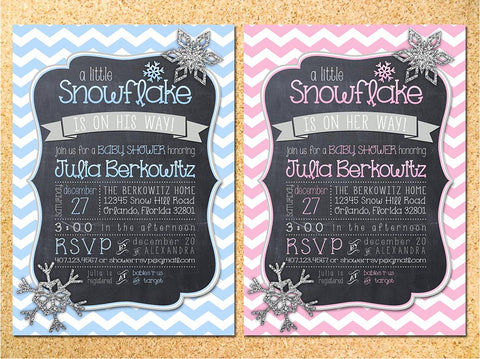 Little Snowflake Invitation