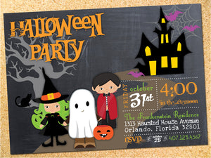 Haunted House Halloween Party Invitation - Customizable - Printable
