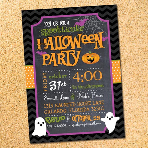 Spooktacular Halloween Party Invitation - Customizable - Printable