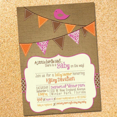 Little Birdie Invitation