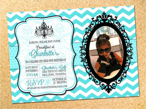 Breakfast at Tiffany's Birthday Party Invitation - Customizable - Printable