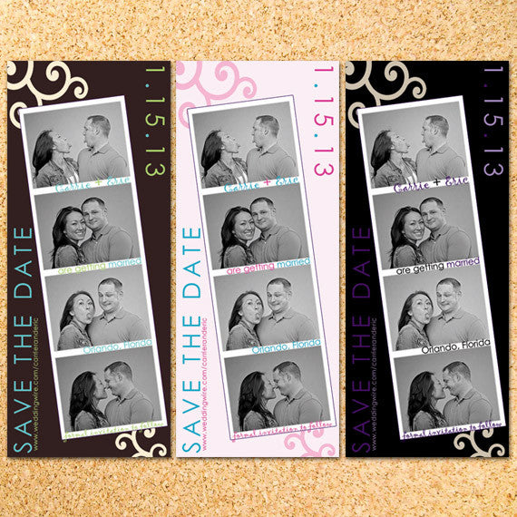 Filmstrip Photo Save the Date - Customizable - DIY - Printable