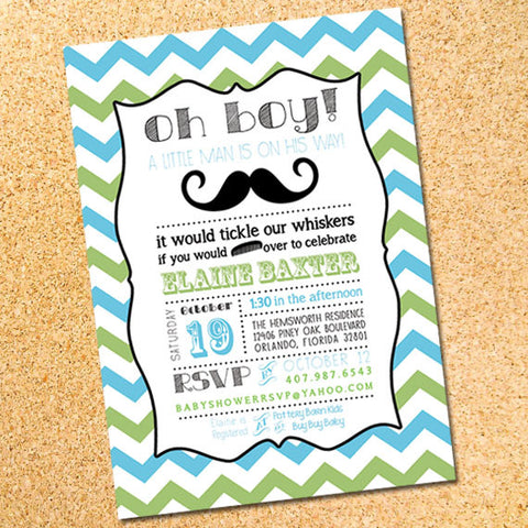 Little Man Invitation